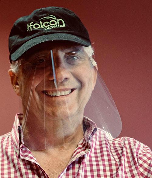 Man wearing VisorProtect Face Shield