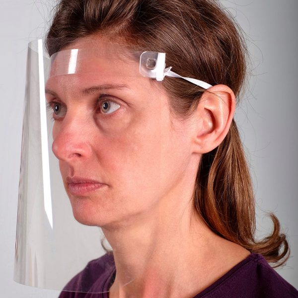 Woman wearing VisorProtect Face Shield